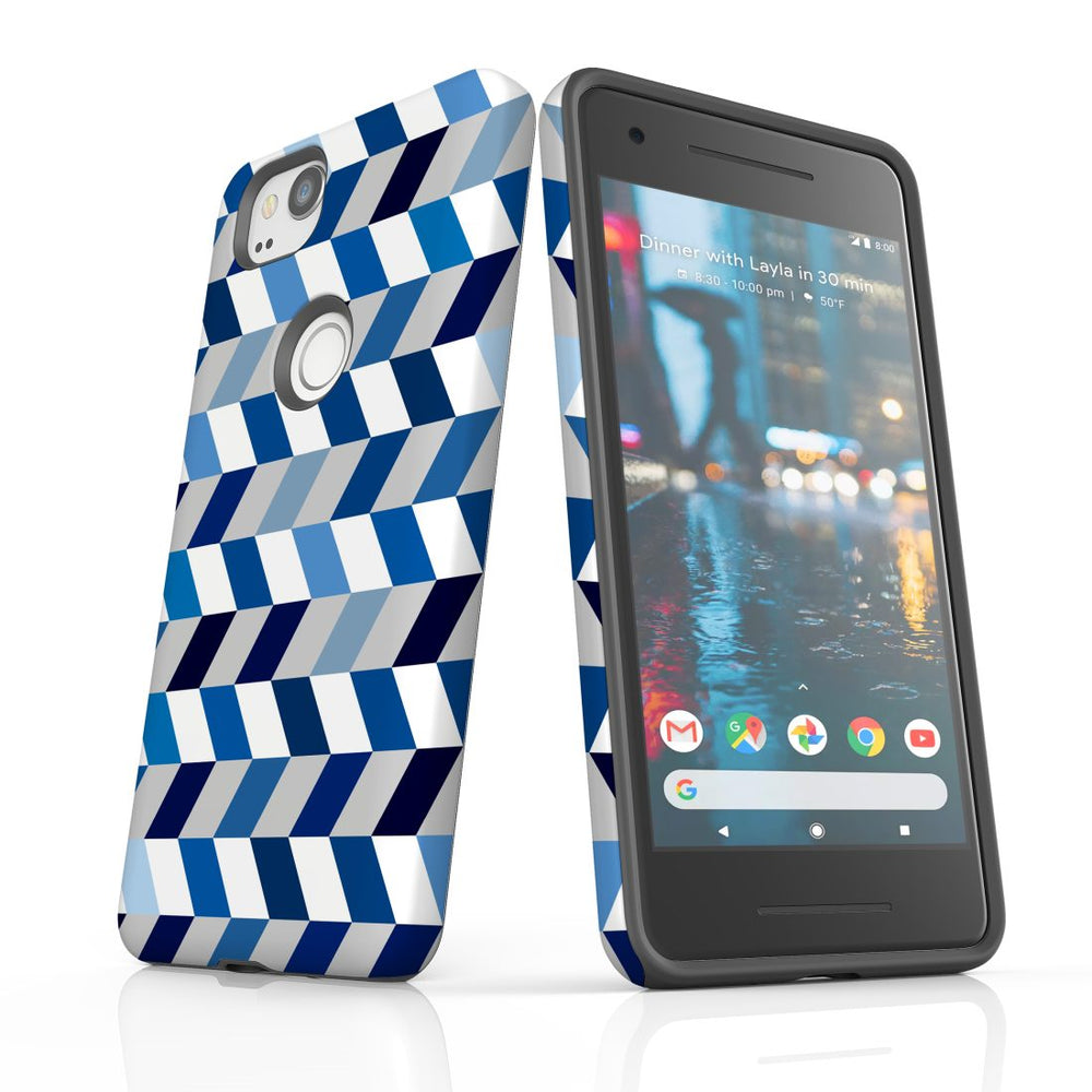 For Google Pixel 2 Protective Case, Zigzag Chevron Pattern