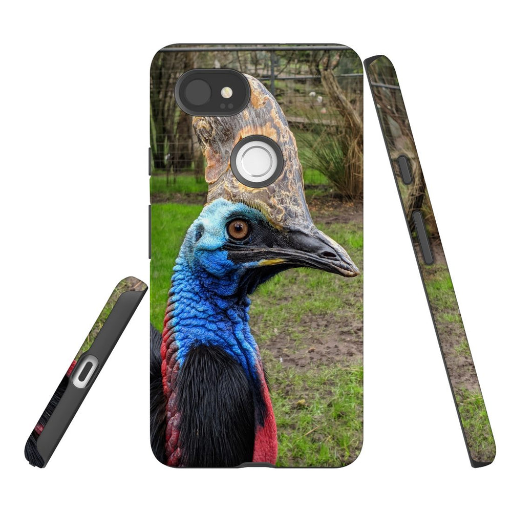 Google Pixel 2 XL Case, Protective Back Cover, Cassowary