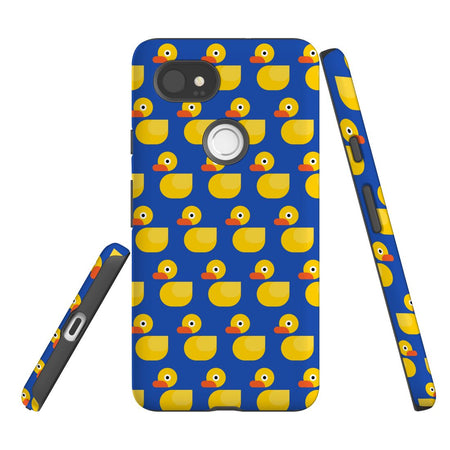 For Google Pixel 2 XL, 2, 1 XL & 1 Case Protective Case, Yellow Duckies