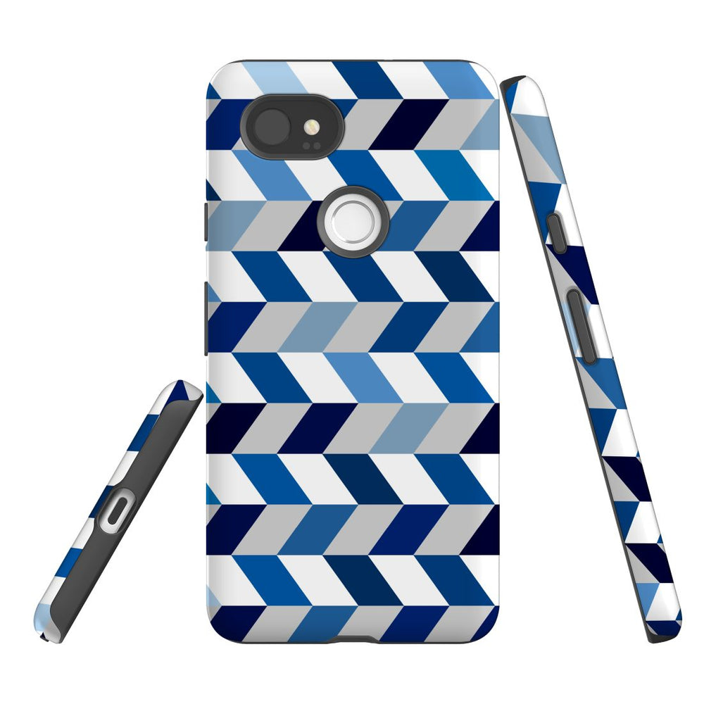 For Google Pixel 2 XL Protective Case, Zigzag Chevron Pattern