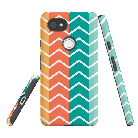 For Google Pixel 2 XL, 2, 1 XL & 1 Case Protective Case, Zigzag Colorful