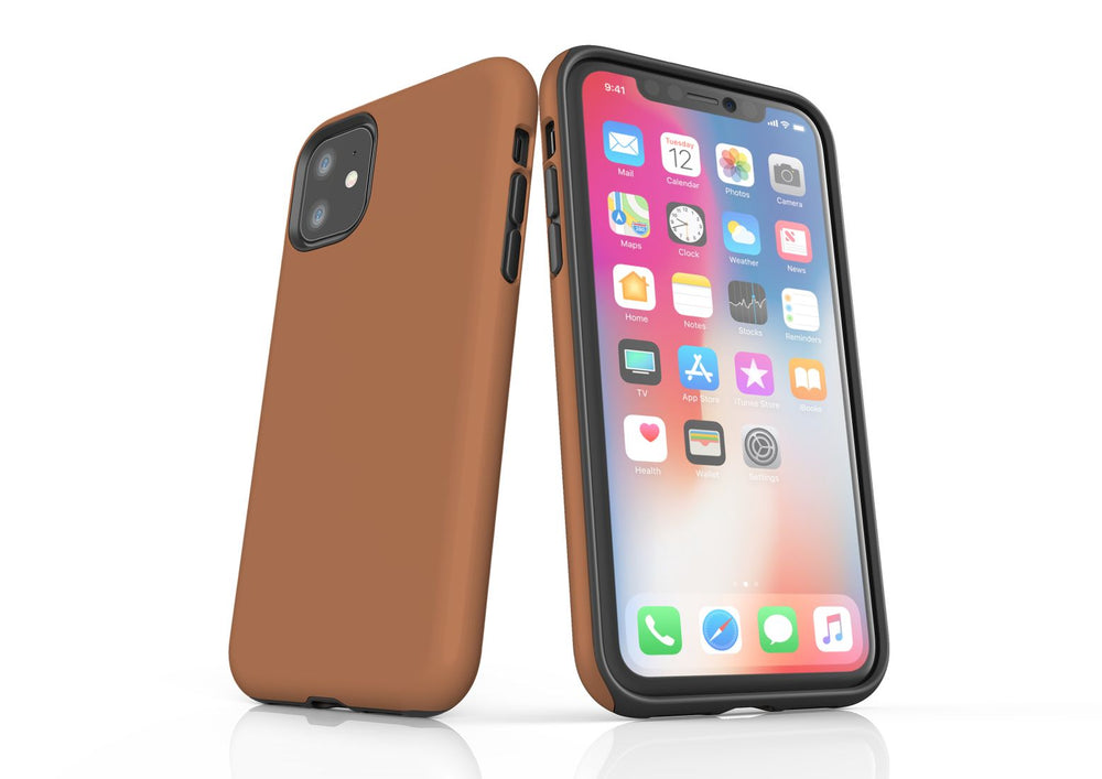 Brown iPhone 11 Tough Case, Protective Back Cover