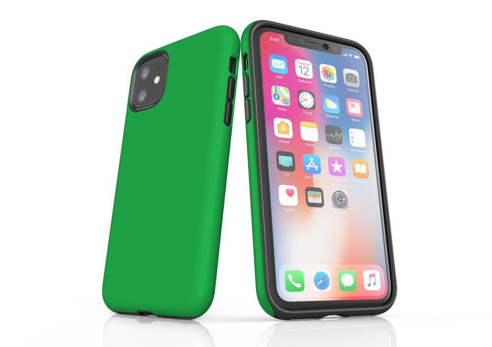 Green iPhone 11 Tough Case, Protective Back Cover