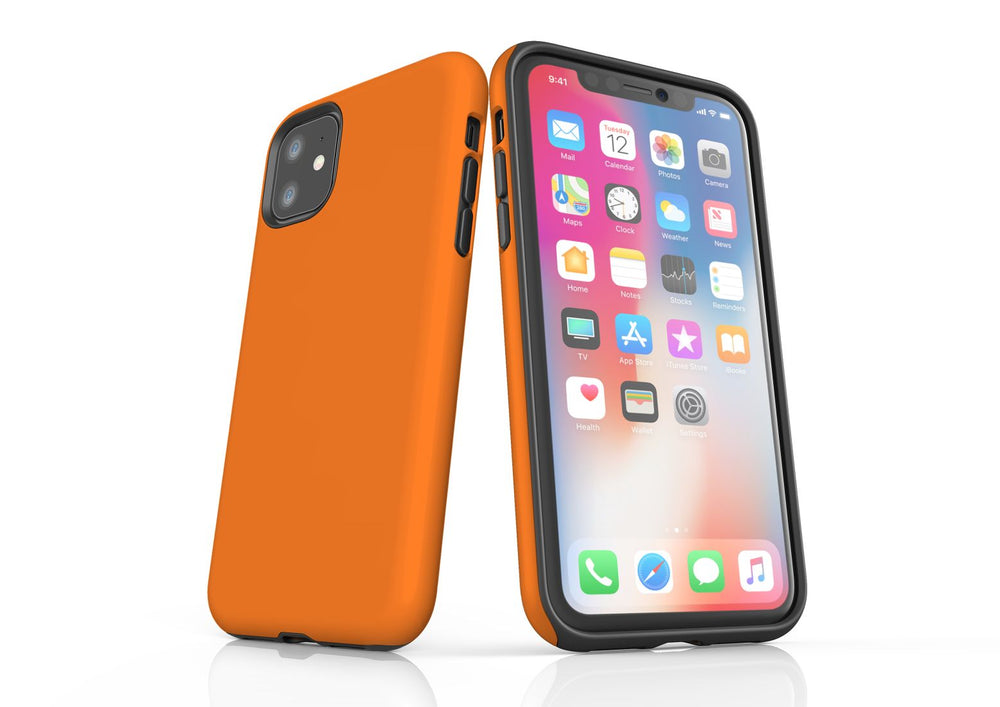 Orange iPhone 11 Tough Case, Protective Back Cover