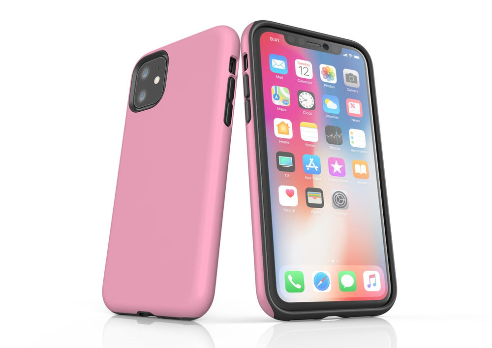 Pink iPhone 11 Tough Case, Protective Back Cover