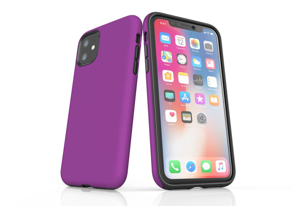 Purple iPhone 11 Tough Case, Protective Back Cover