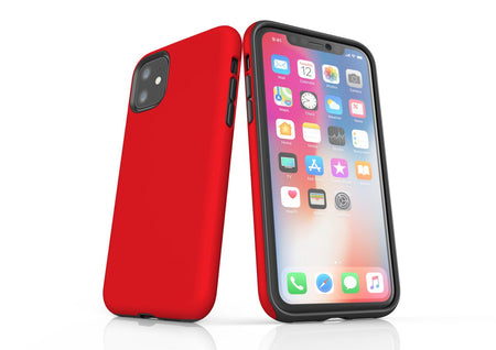 Red iPhone 11 Tough Case, Protective Back Cover