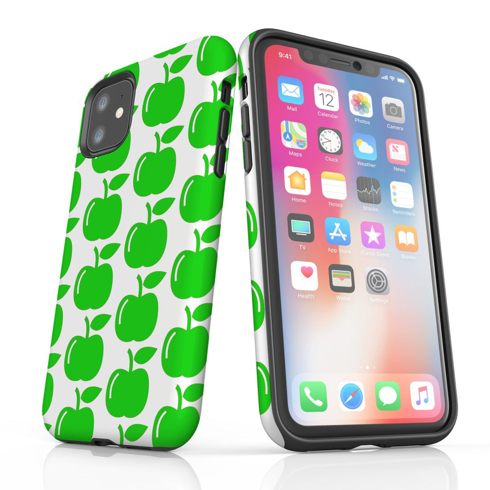 For iPhone 11 Protective Case, Apple Pattern