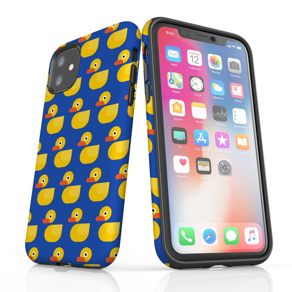 For iPhone 11 Protective Case, Yellow Duckies Pattern