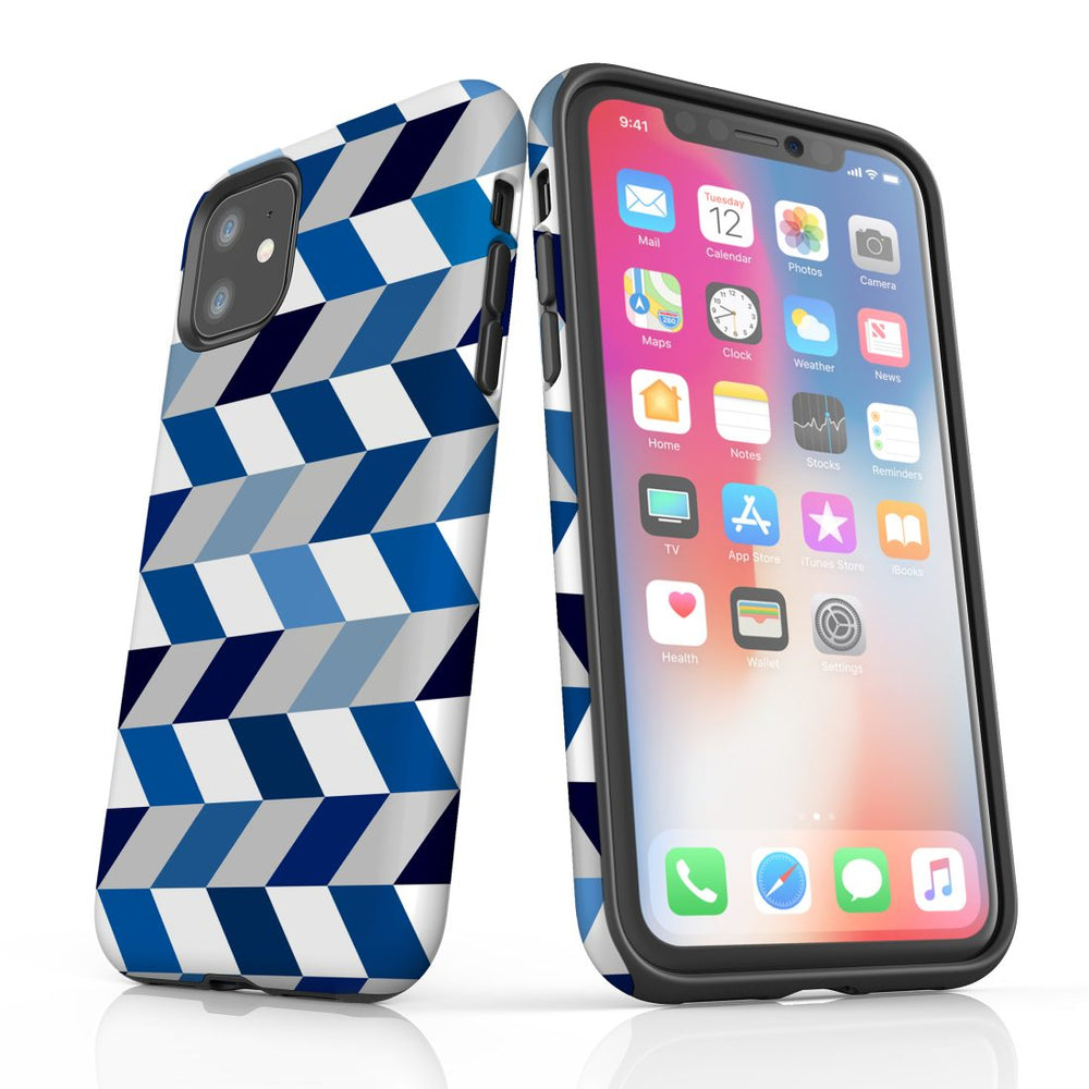 For iPhone 11 Protective Case, Zigzag Chevron Pattern