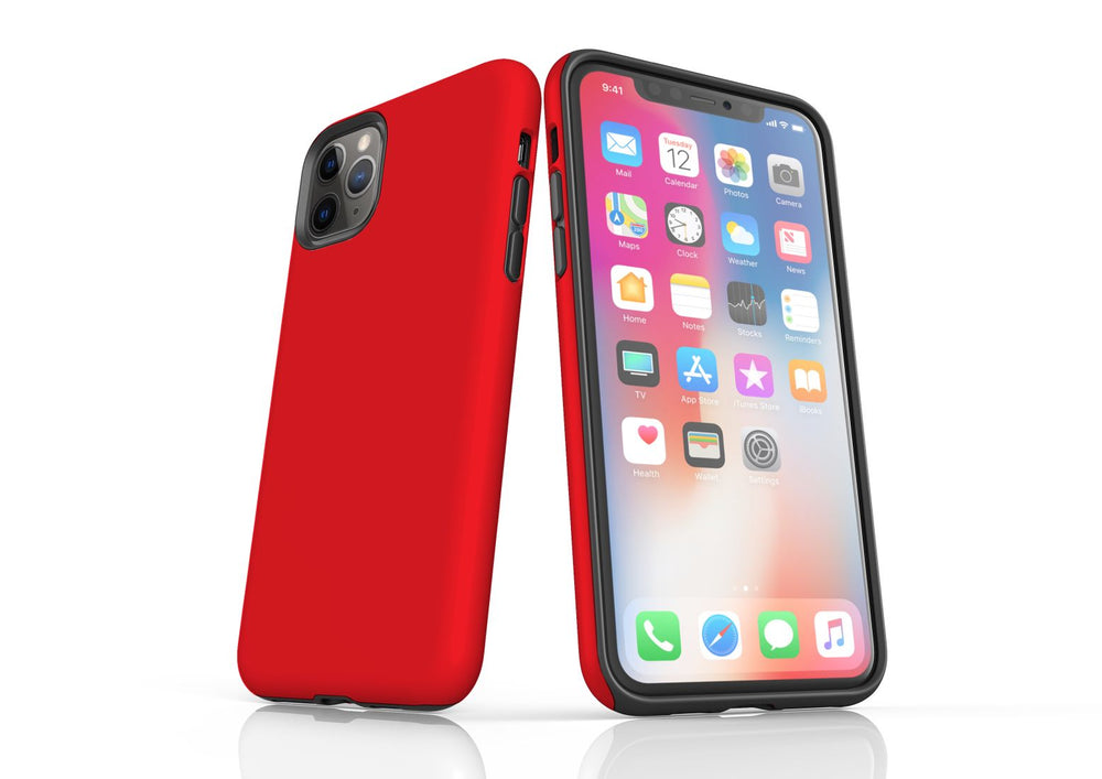 Red iPhone 11 Pro Tough Case, Protective Back Cover
