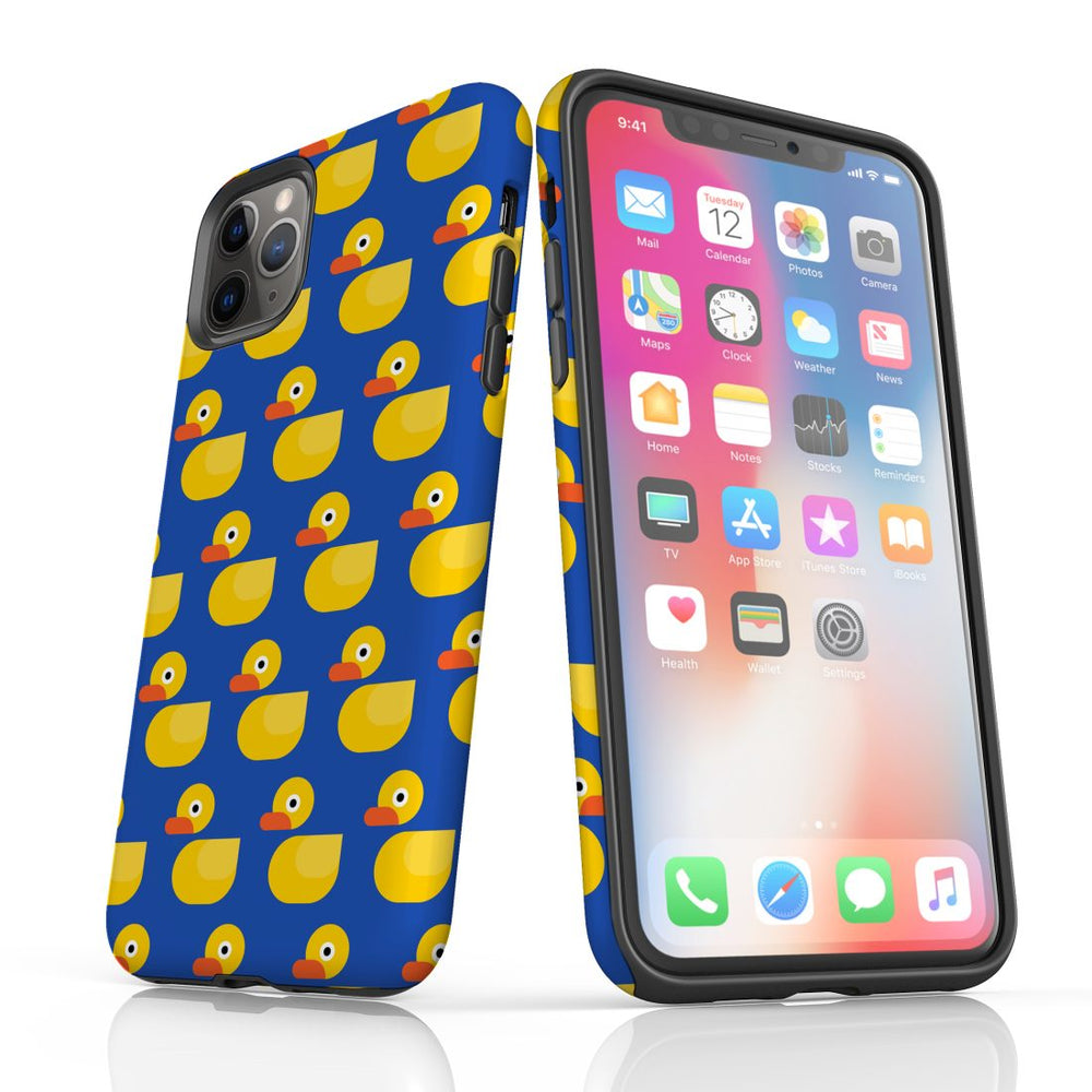 For iPhone 11 Pro Protective Case, Yellow Duckies Pattern