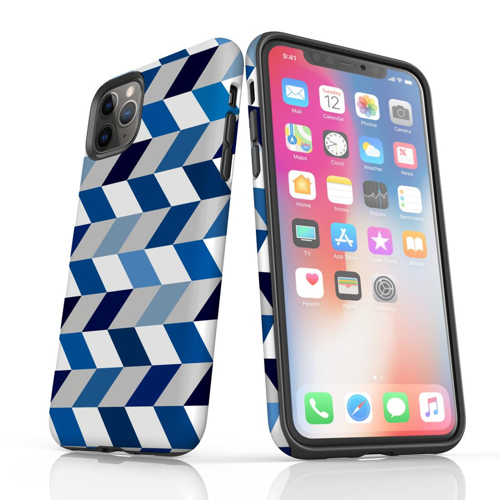 For iPhone 11 Pro Protective Case, Zigzag Chevron Pattern