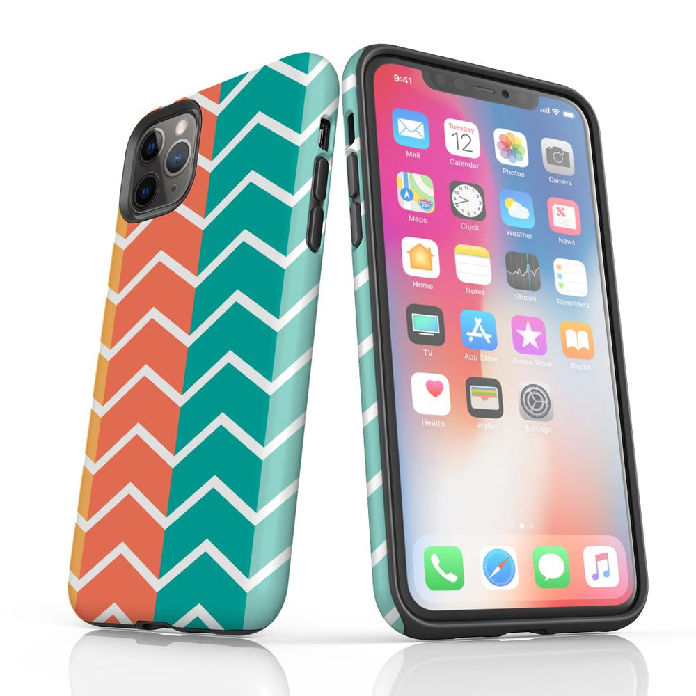 For iPhone 11 Pro Protective Case, Zigzag Colorful Pattern