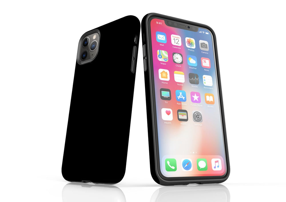 Black iPhone 11 Pro Max Tough Case, Protective Back Cover