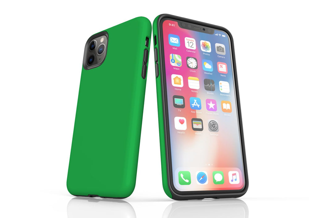 Green iPhone 11 Pro Max Tough Case, Protective Back Cover