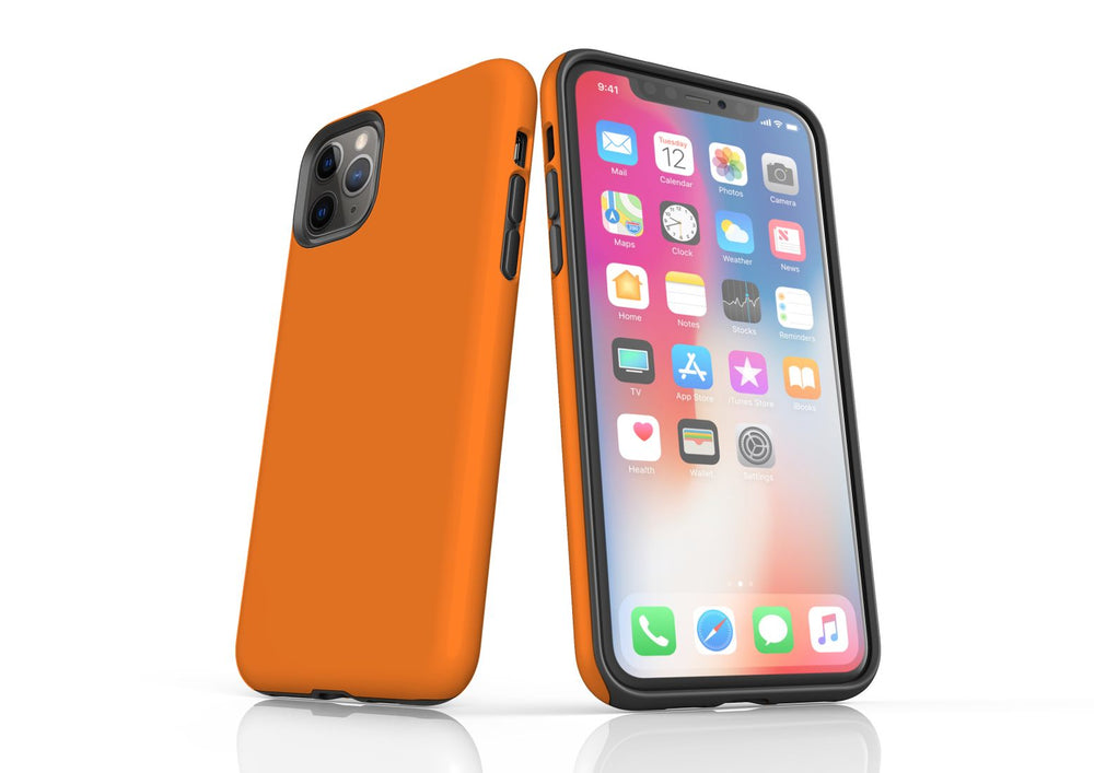 Orange iPhone 11 Pro Max Tough Case, Protective Back Cover