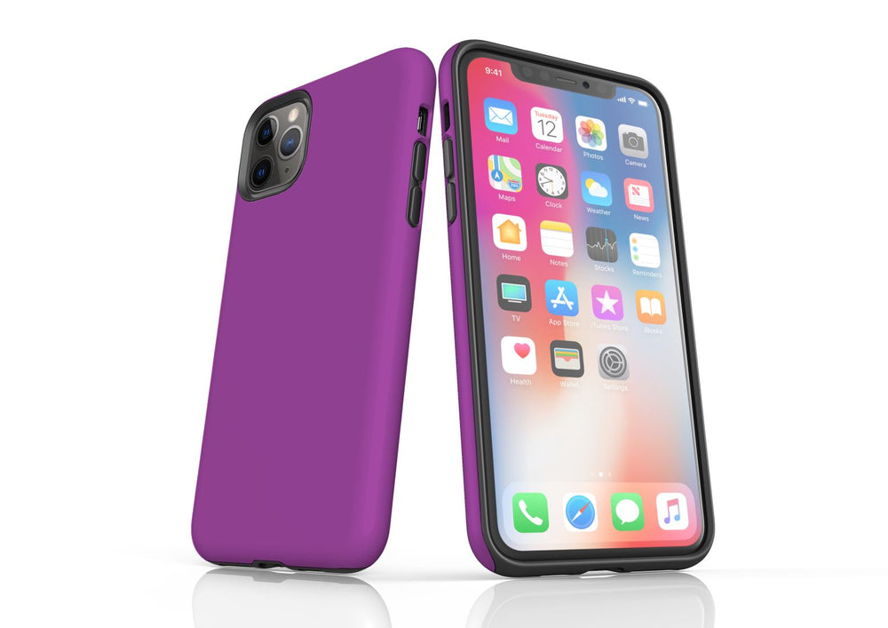 Purple iPhone 11 Pro Max Tough Case, Protective Back Cover
