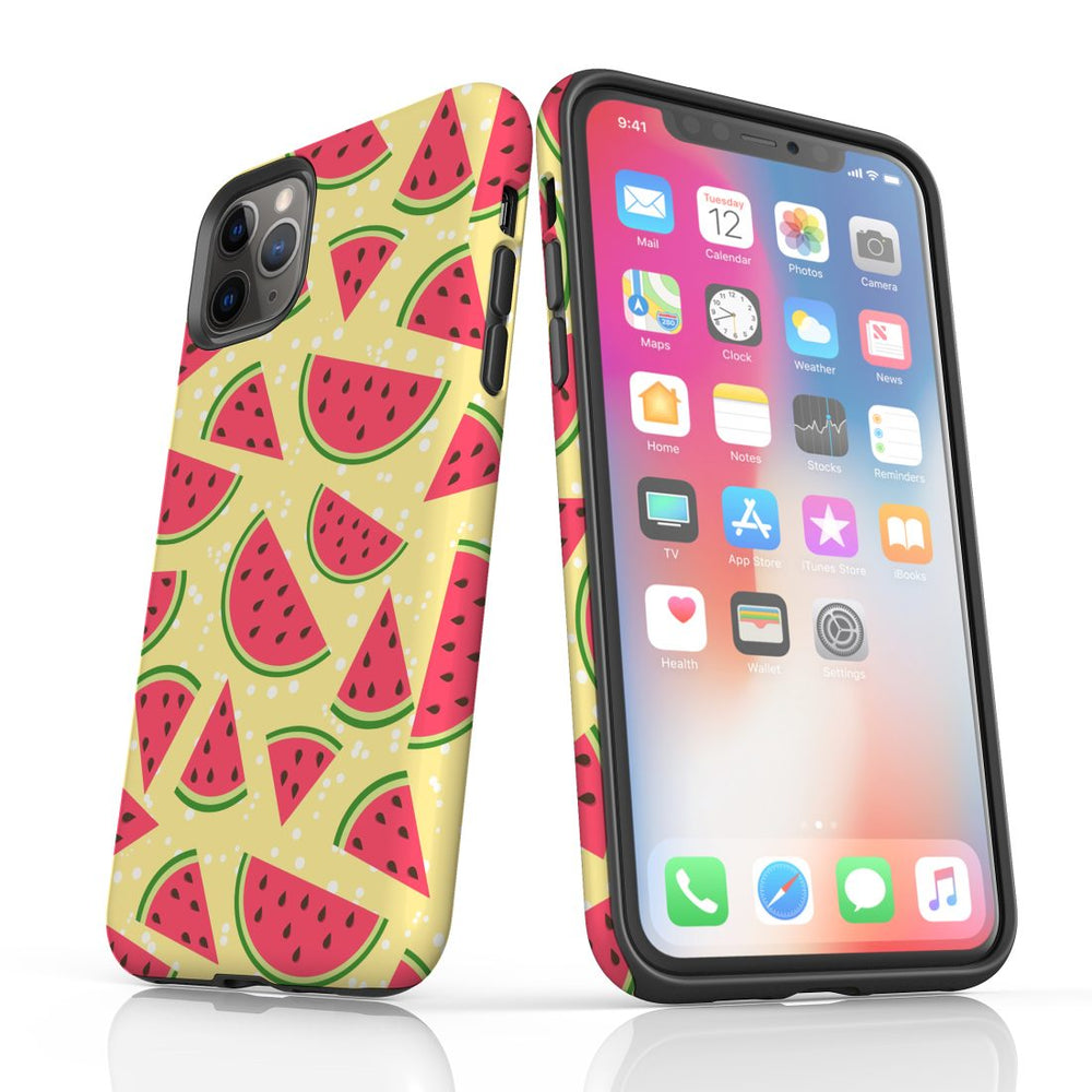 For iPhone 11 Pro Max, 11 Pro, 11, XS Max, XS/X, XR, 8/7/6 Plus, SE/5S/5 Protective Case, Watermelon