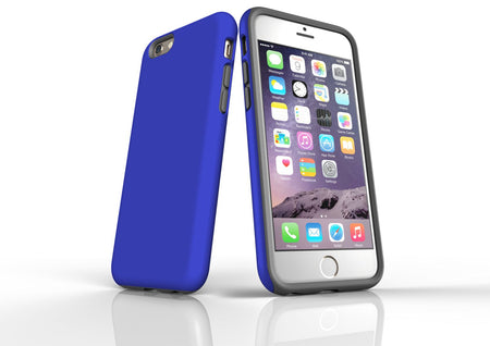 Blue iPhone 6S Tough Case, Protective Back Cover