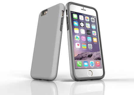 Grey iPhone 6S Tough Case, Protective Back Cover
