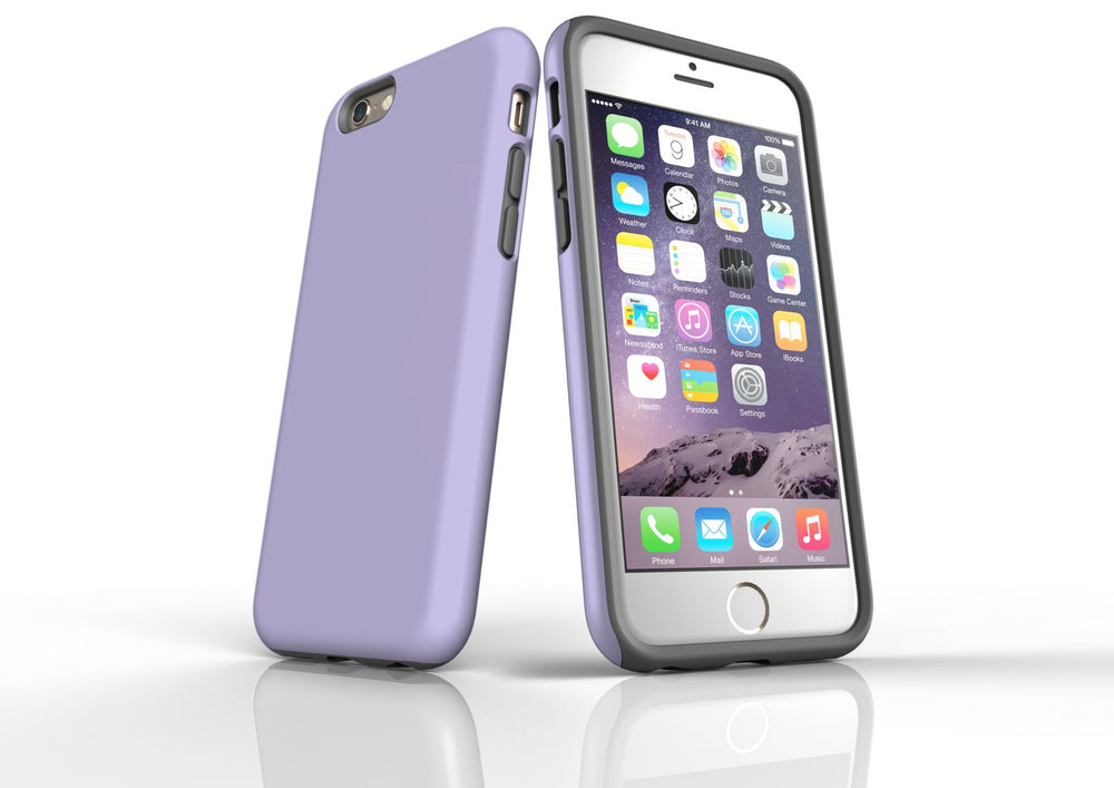 Lavender iPhone 6S Tough Case, Protective Back Cover