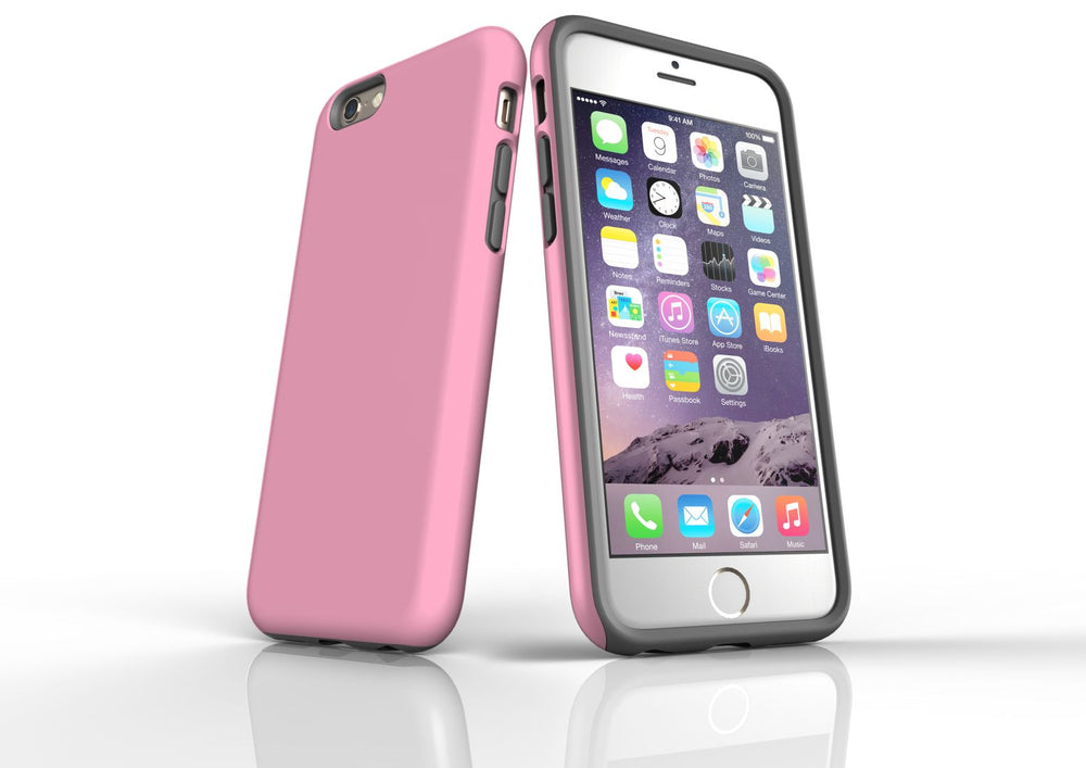 Pink iPhone 6S Tough Case, Protective Back Cover