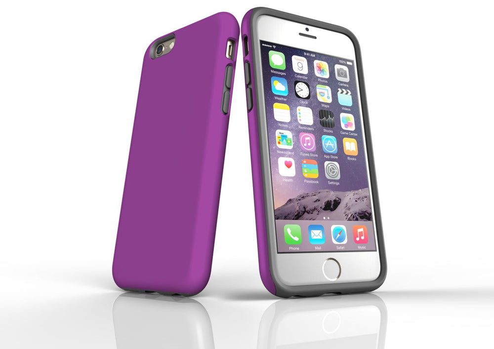 Purple iPhone 6S Tough Case, Protective Back Cover