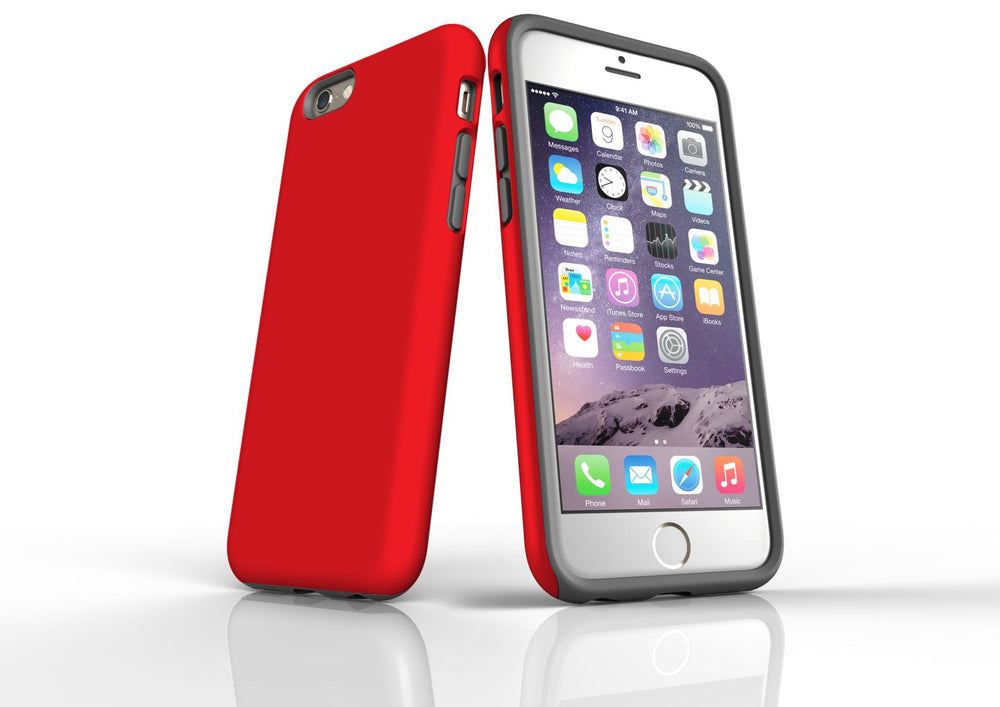 Red iPhone 6S Tough Case, Protective Back Cover