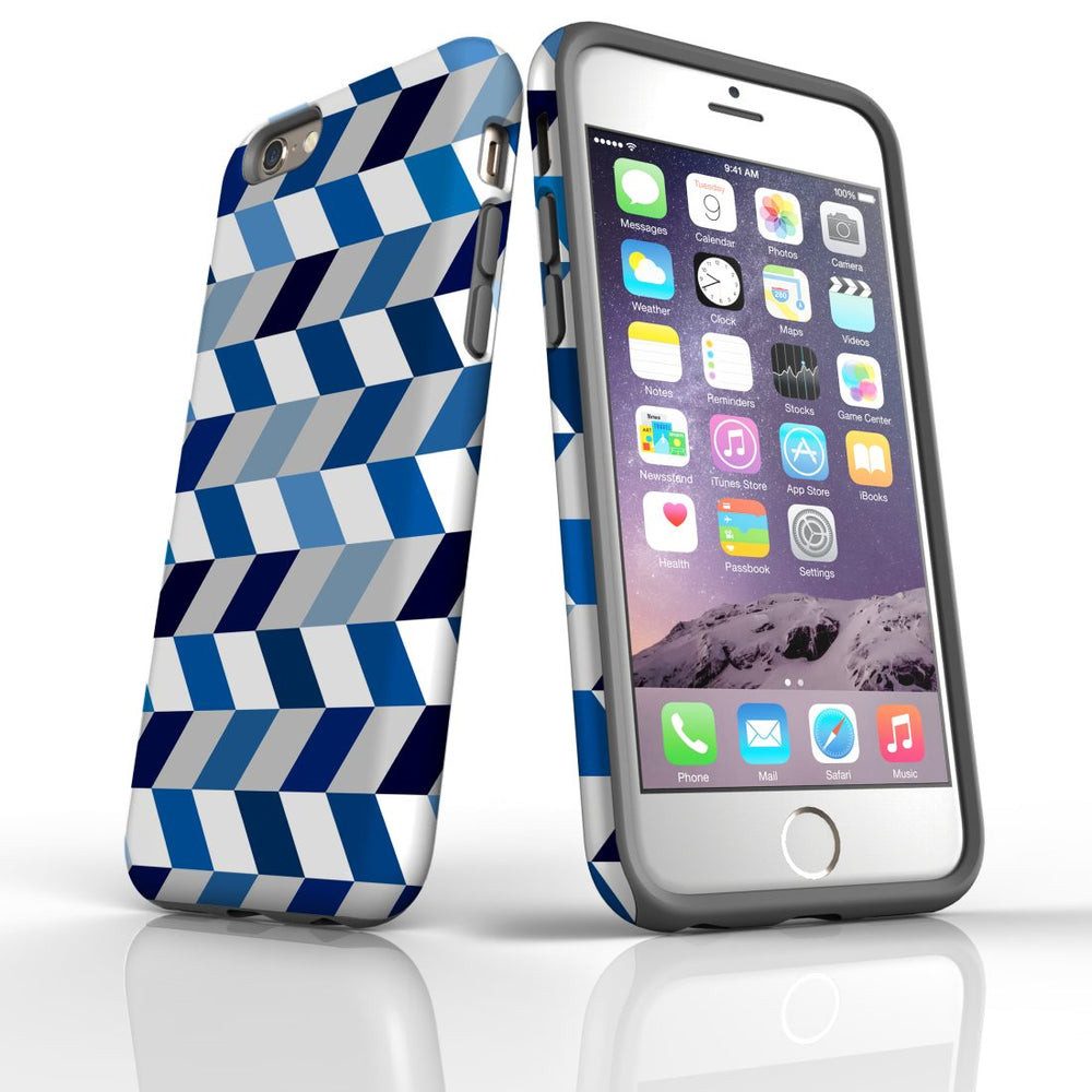 For iPhone 6S/6 Protective Case, Zigzag Chevron Pattern