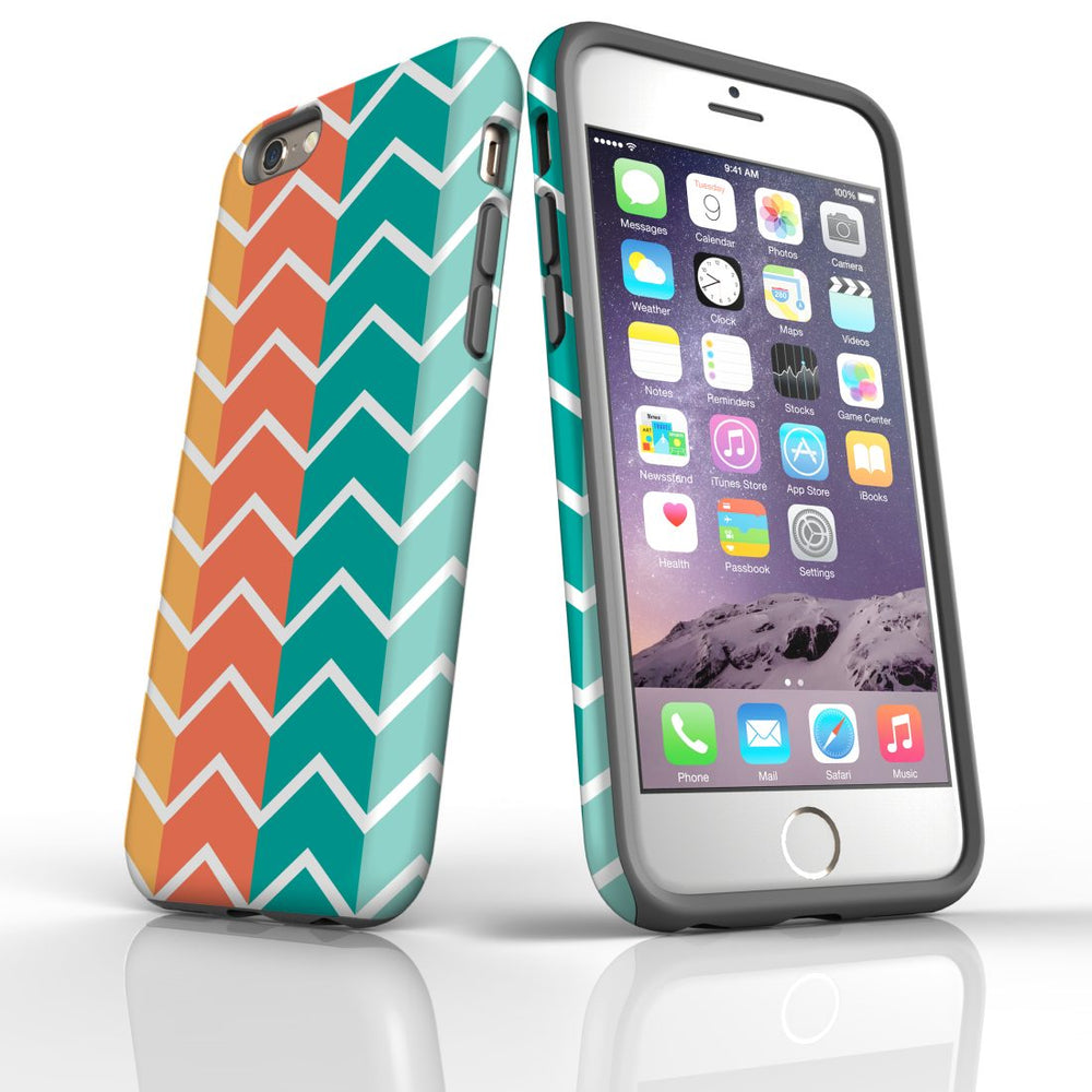 For iPhone 6S/6 Protective Case, Zigzag Colorful Pattern