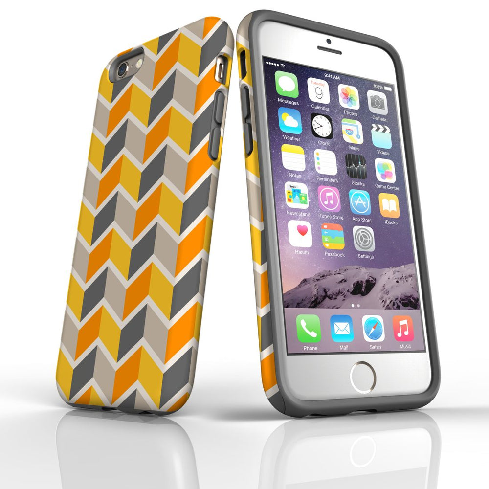 For iPhone 6S/6 Protective Case, Zigzag Yellow Pattern
