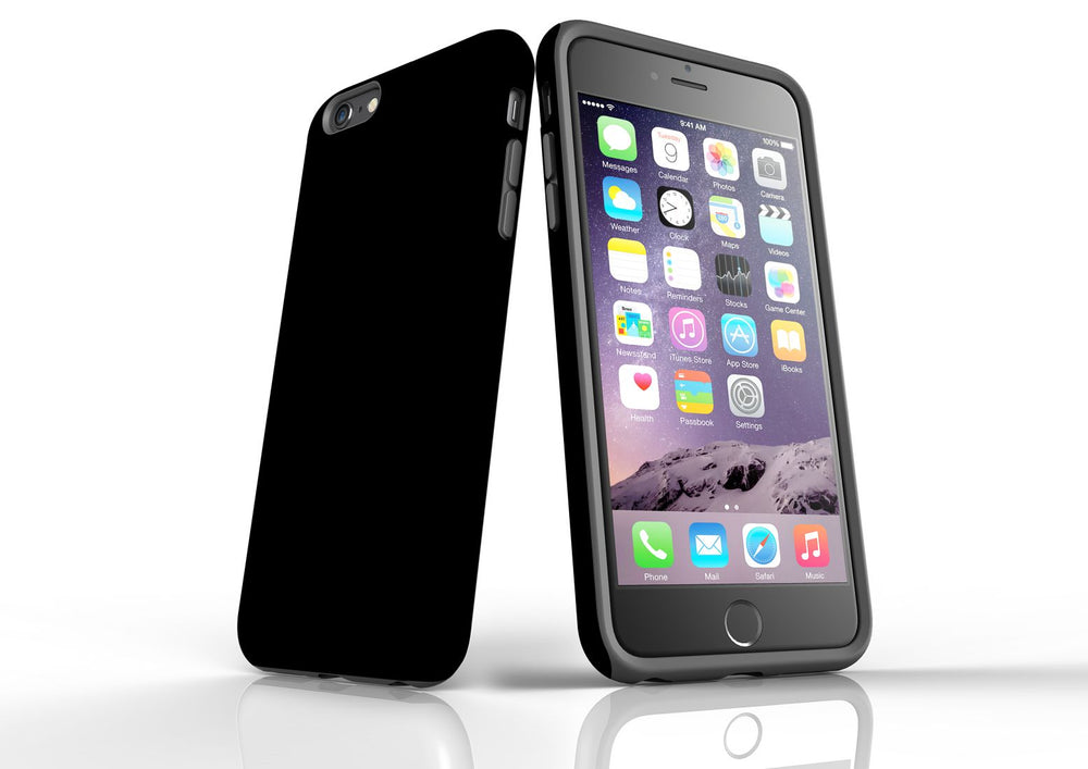 Black iPhone 6S Plus Tough Case, Back Protective Cover