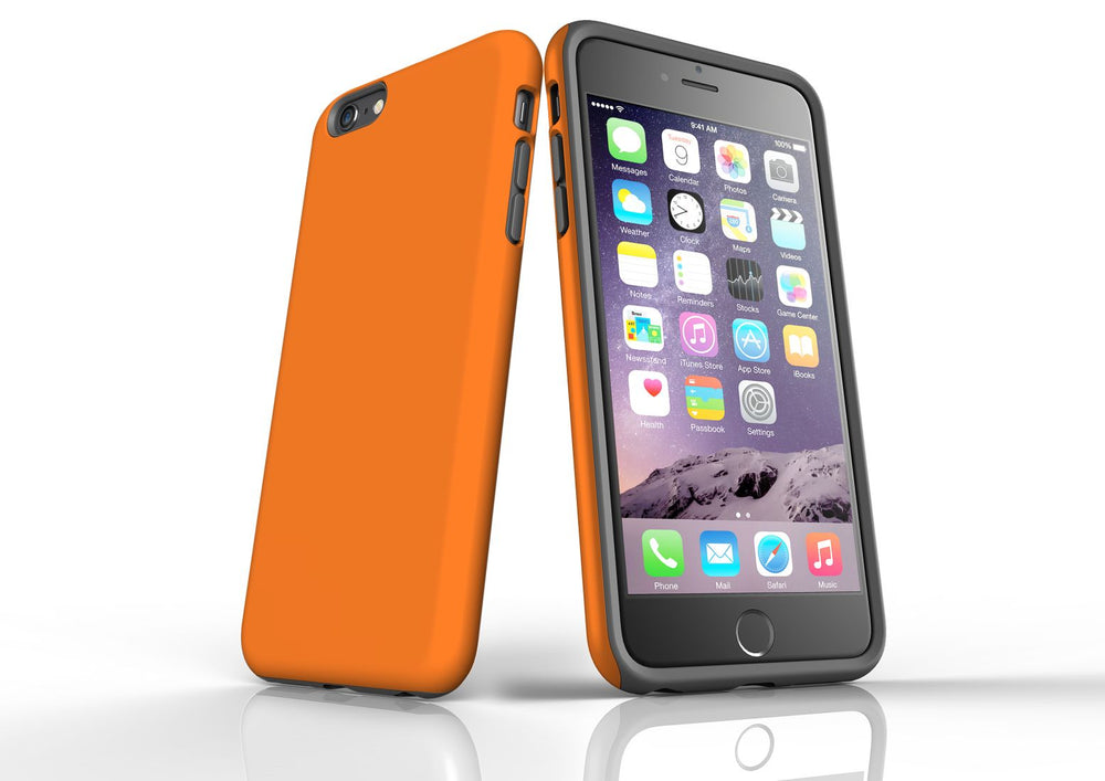 Orange iPhone 6S Plus Tough Case, Protective Back Cover