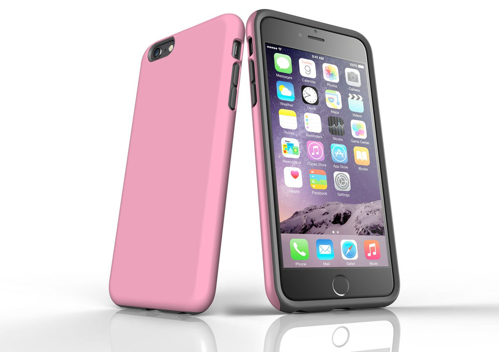 Pink iPhone 6S Plus Tough Case, Protective Back Cover
