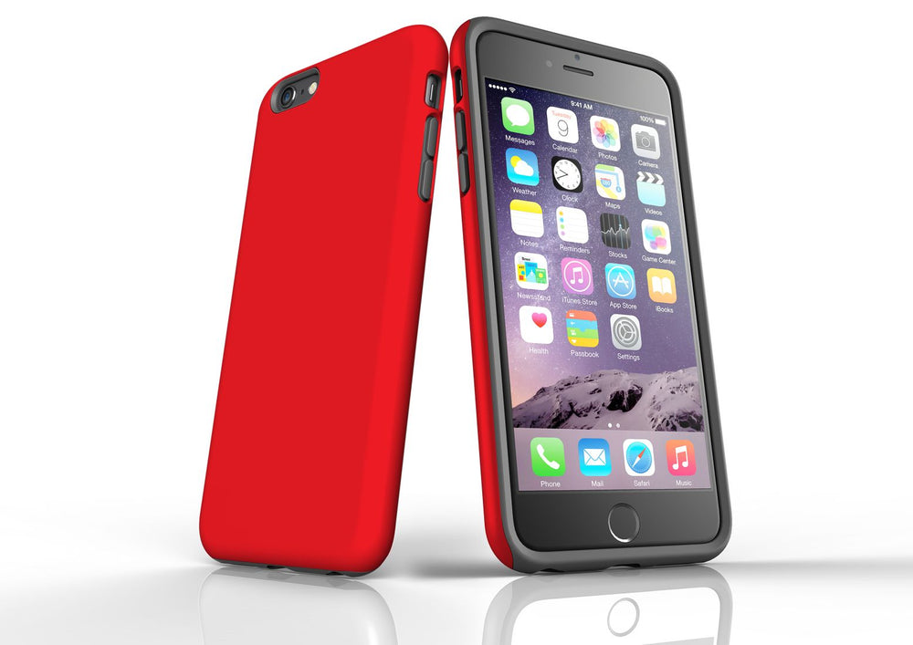 Red iPhone 6S Plus Tough Case, Protective Back Cover
