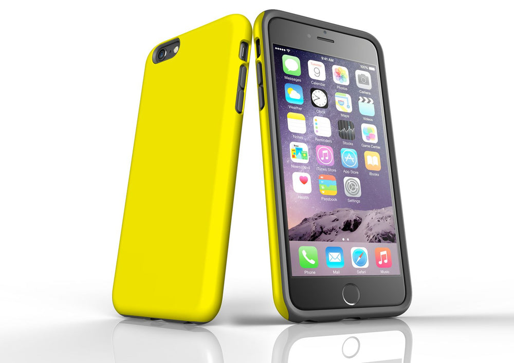 Yellow iPhone 6S Plus Tough Case, Protective Back Cover