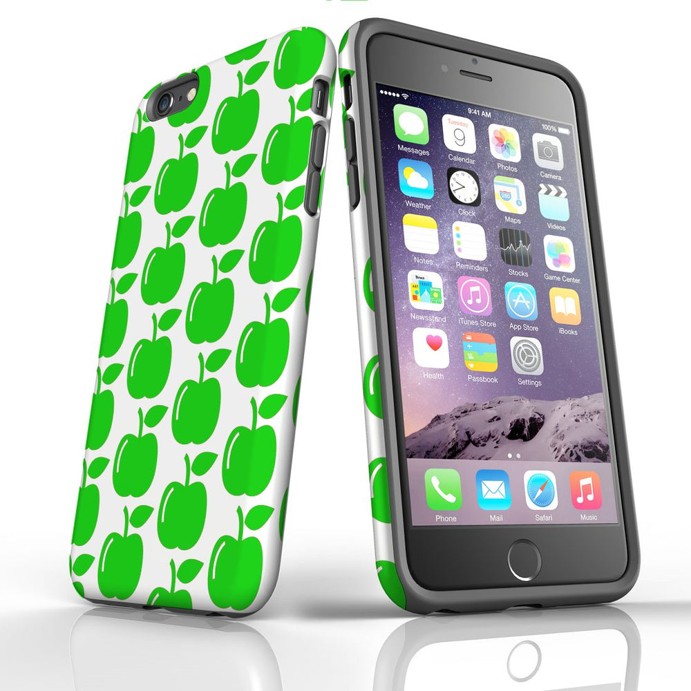 For iPhone 6S/6 Plus Protective Case, Apple Pattern