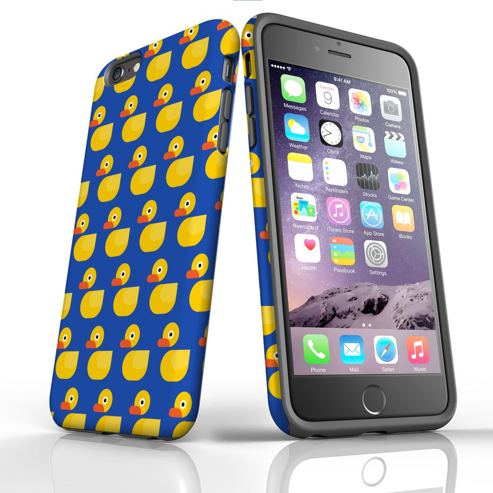 For iPhone 6S/6 Plus Protective Case, Yellow Duckies Pattern