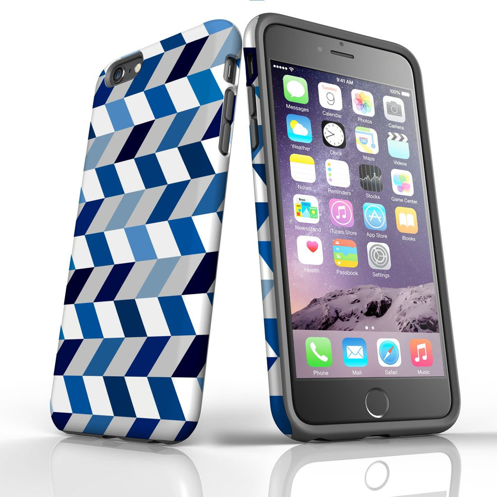 For iPhone 6S/6 Plus Protective Case, Zigzag Chevron Pattern
