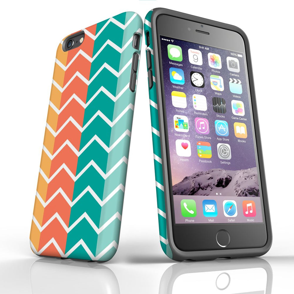 For iPhone 6S/6 Plus Protective Case, Zigzag Colorful Pattern