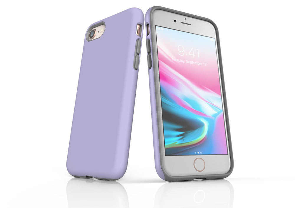Lavender iPhone 8 Tough Case, Protective Back Cover