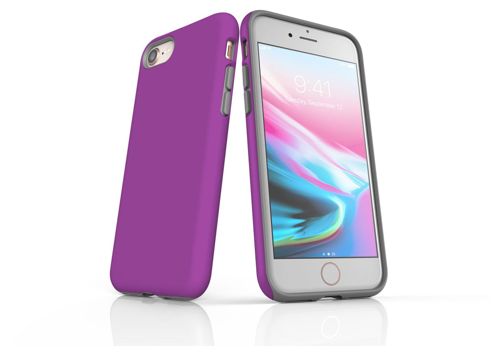 Purple iPhone 8 Tough Case, Protective Back Cover