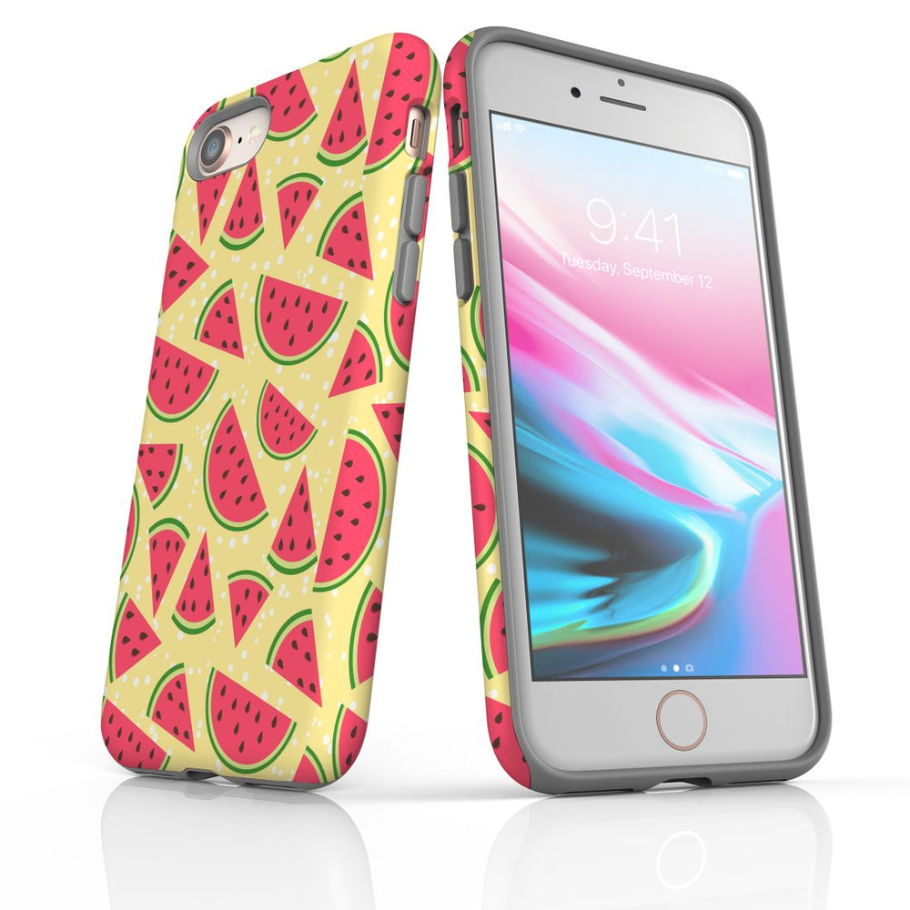 For iPhone 8/7 Protective Case, Watermelon Pattern