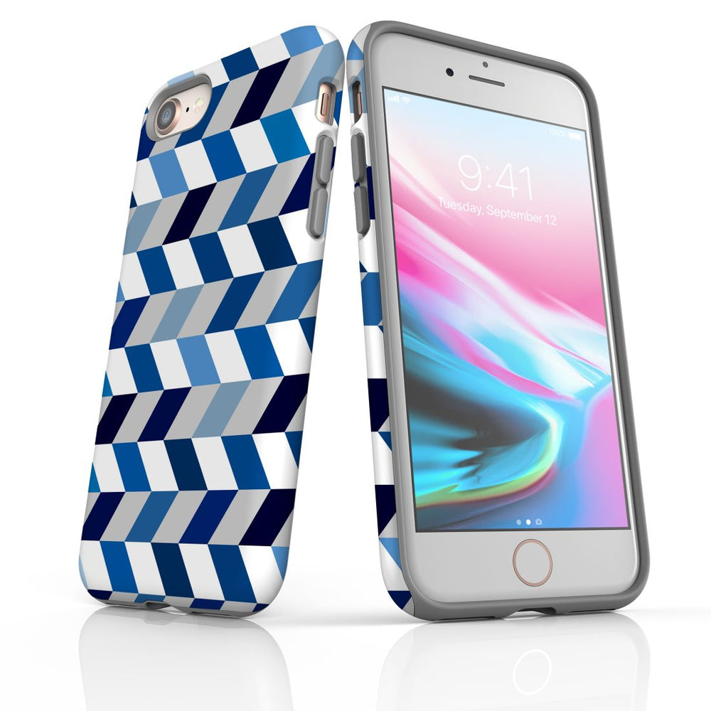 For iPhone 8/7 Protective Case, Zigzag Chevron Pattern