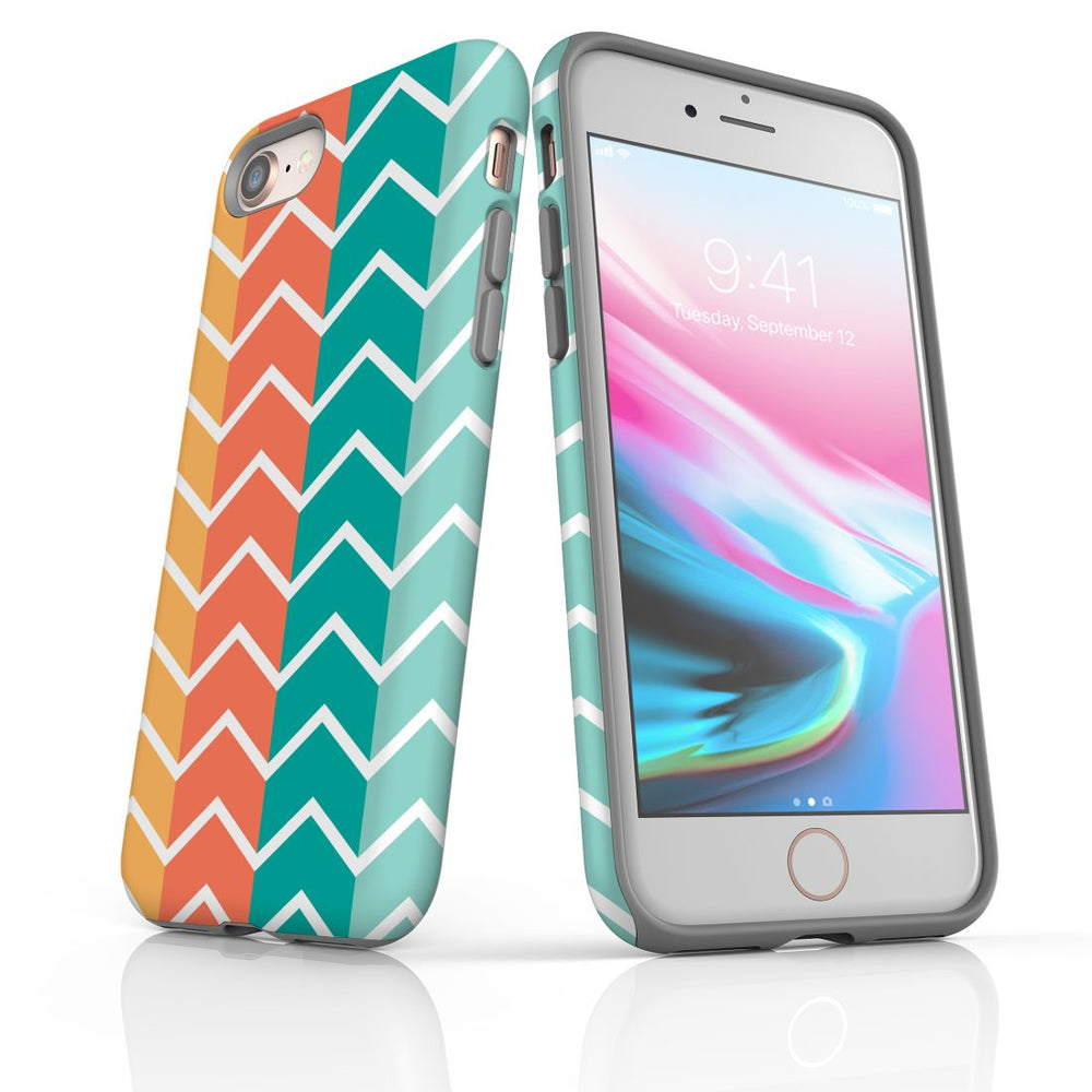 For iPhone 8/7 Protective Case, Zigzag Colorful Pattern