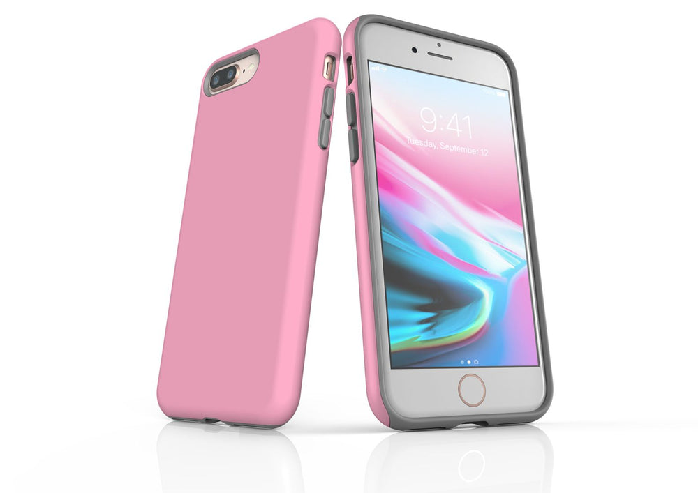 Pink iPhone 8 Plus Tough Case, Protective Back Cover