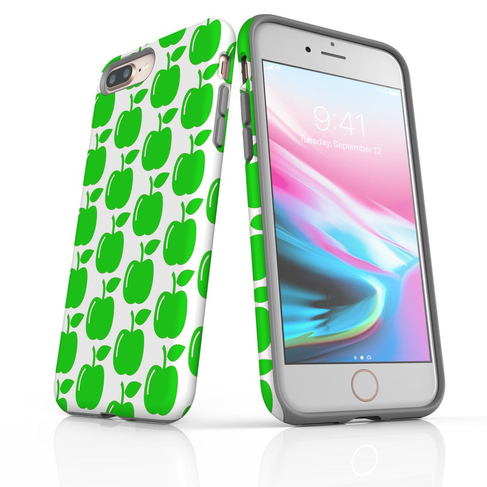 For iPhone 8/7 Plus Protective Case, Apple Pattern