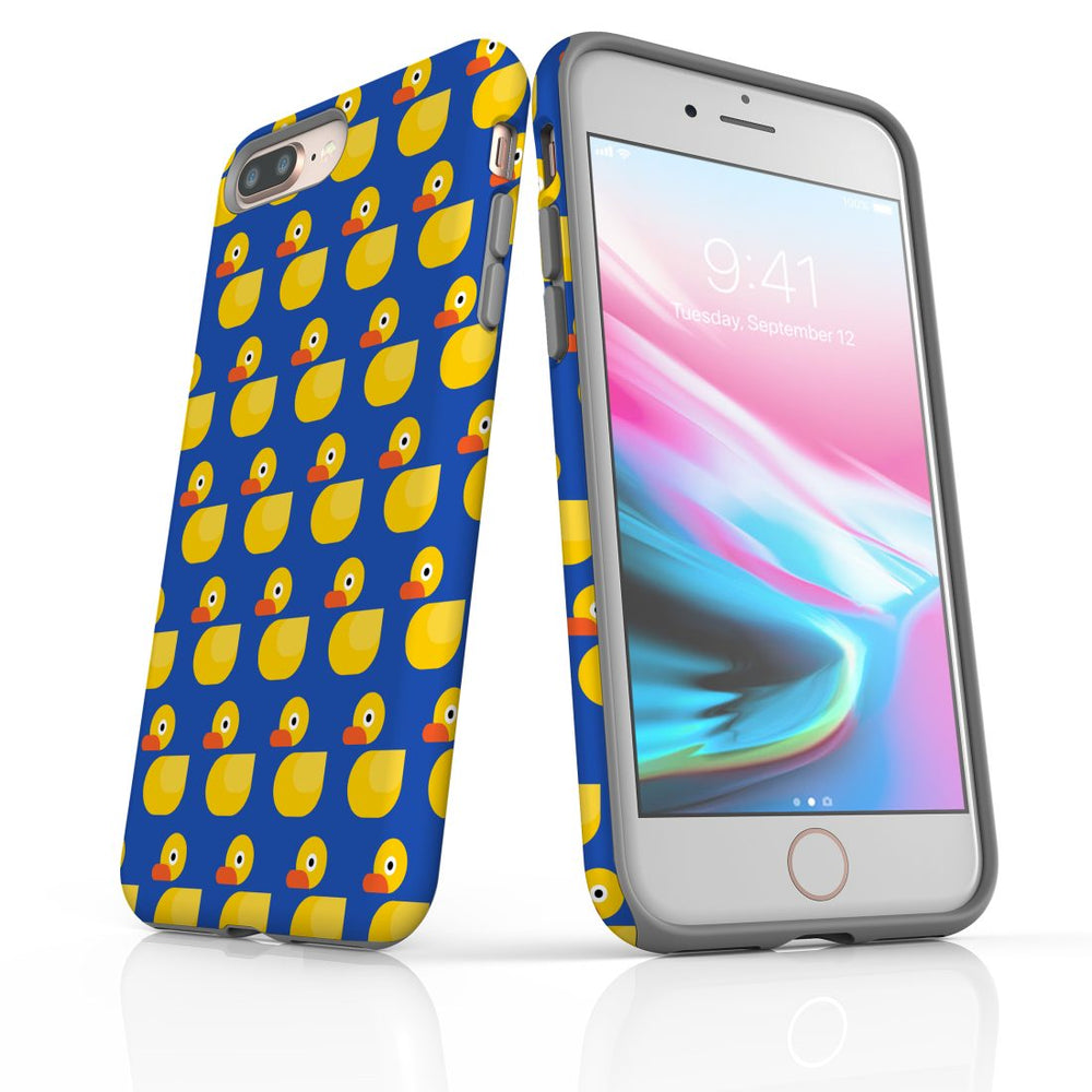 For iPhone 8/7 Plus Protective Case, Yellow Duckies Pattern
