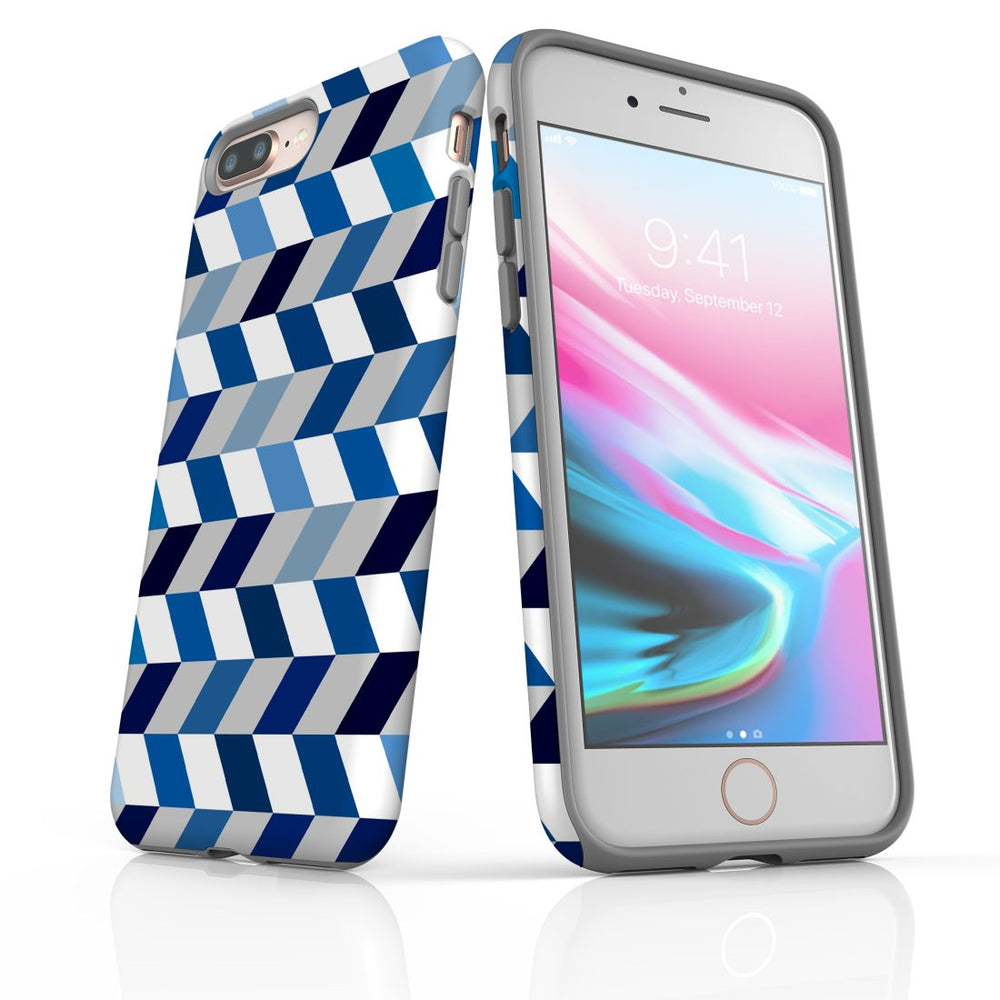 For iPhone 8/7 Plus Protective Case, Zigzag Chevron Pattern